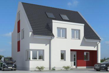 Visualisierung Frontansicht_großes Haus